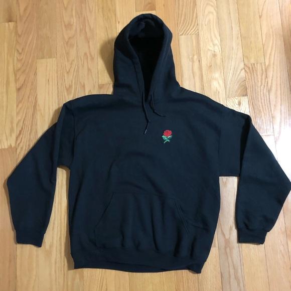 4e8055298 Shirts | Artist Union Clothing Co Black Rose Hoodie | Poshmark